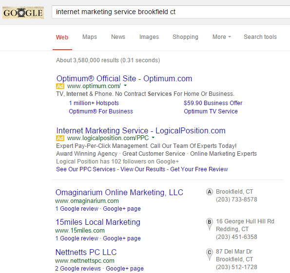 internet marketing Brookfield ct